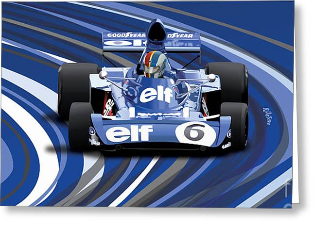 Francois Digital Greeting Cards - Francois Cevert - Tyrrell Greeting Card by Robin DaSilva