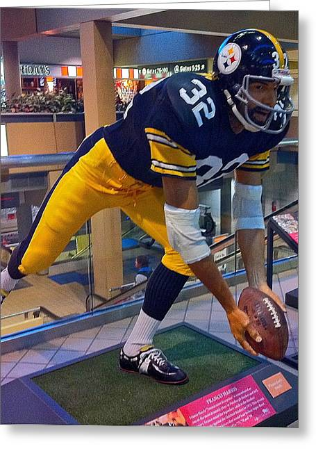 Immaculate Reception Greeting Cards - Francos Immaculate Reception Greeting Card by Denise Mazzocco