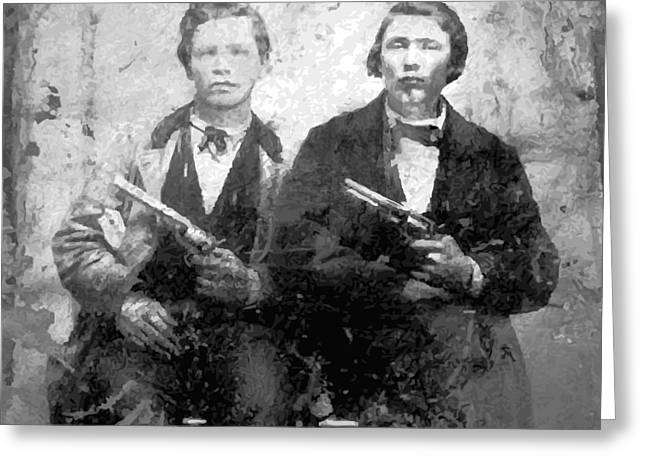 Woodson Greeting Cards - FRANK and JESSE JAMES Greeting Card by Daniel Hagerman