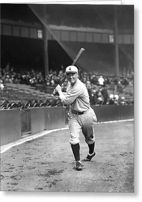 Baseball Bat Greeting Cards - Frank B. McGowan Greeting Card by Retro Images Archive