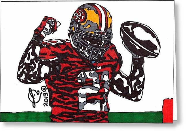 49ers Drawings Greeting Cards - Frank Gore 1 Greeting Card by Jeremiah Colley