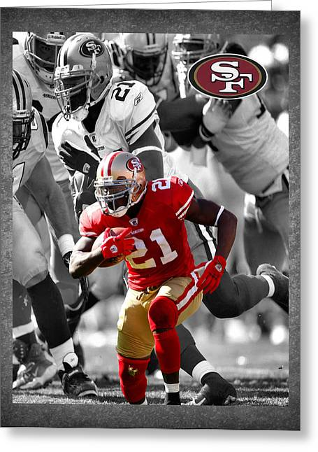 Offense Greeting Cards - Frank Gore 49ers Greeting Card by Joe Hamilton