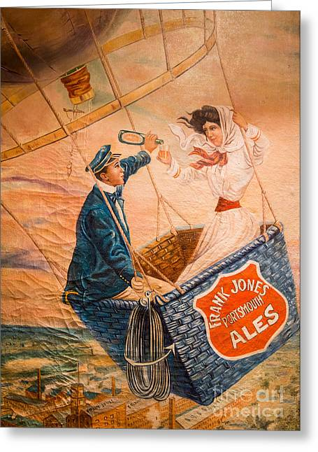 Balloon Greeting Cards - Frank Jones Portsmouth Ales Greeting Card by Vintage