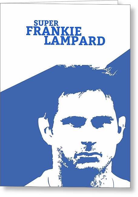 Sports Lover Greeting Cards - Frank Lampard Minimalist Art poster Greeting Card by Lab No 4 - The Quotography Department