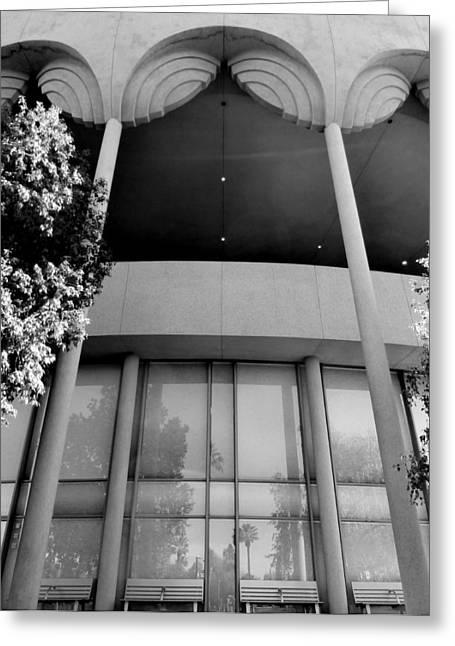Grady Greeting Cards - Frank Lloyd Wright Designed Auditorium Greeting Card by Karyn Robinson