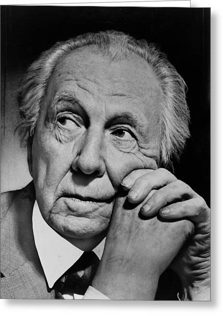 Famous Person Portrait Greeting Cards - Frank Lloyd Wright Greeting Card by Mountain Dreams