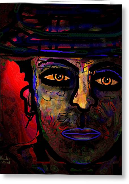 Eyebrow Mixed Media Greeting Cards - Frank Greeting Card by Natalie Holland