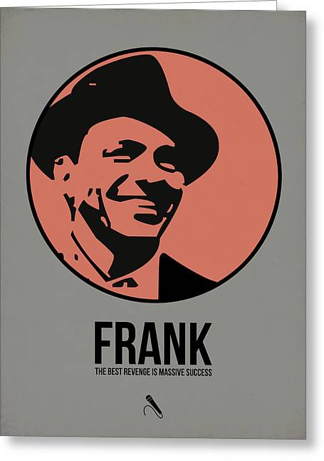 Rat Pack Greeting Cards - Frank Poster 1 Greeting Card by Naxart Studio