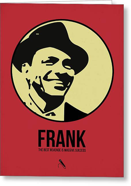 Rat Pack Greeting Cards - Frank Poster 2 Greeting Card by Naxart Studio