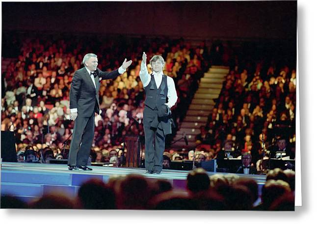 Ballet Dancers Greeting Cards - Frank Sinatra and Mikhail Barysnikov Greeting Card by Mountain Dreams