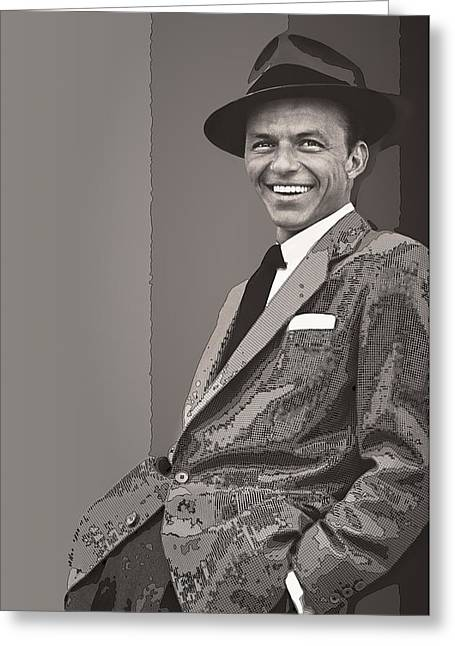 Rat Pack Greeting Cards - Frank Sinatra Greeting Card by Daniel Hagerman