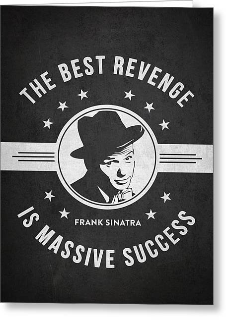 Frank Sinatra Greeting Cards - Frank Sinatra - Dark Greeting Card by Aged Pixel