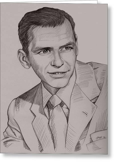 Frank Sinatra Greeting Card by Jennifer Hotai