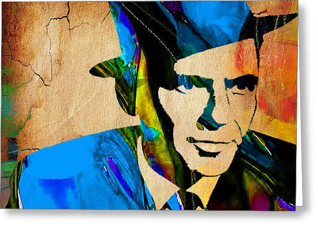Frank Sinatra Greeting Cards - Frank Sinatra My Way Greeting Card by Marvin Blaine