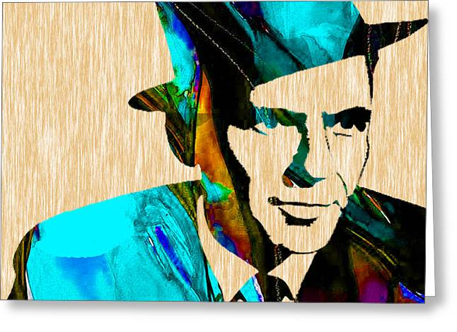 Frank Sinatra Paintings Greeting Card by Marvin Blaine