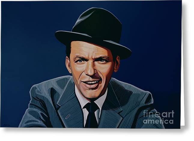 Rat Pack Greeting Cards - Frank Sinatra Greeting Card by Paul Meijering