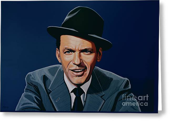 Here Greeting Cards - Frank Sinatra Greeting Card by Paul Meijering