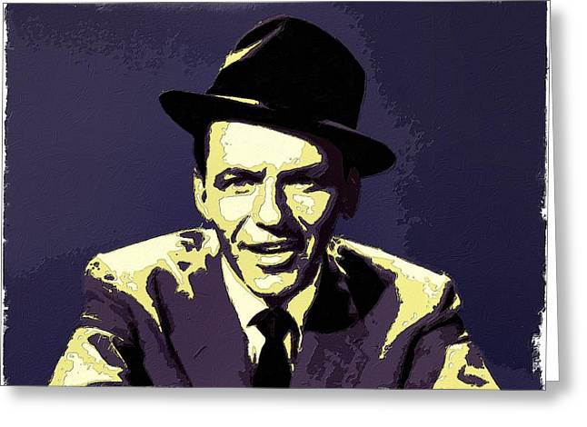 Frank Sinatra Posters Greeting Cards - Frank Sinatra Portrait Art Greeting Card by Florian Rodarte