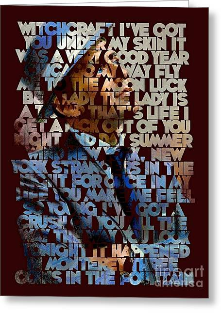 Frank Sinatra - The Songs Greeting Card by Spencer McKain
