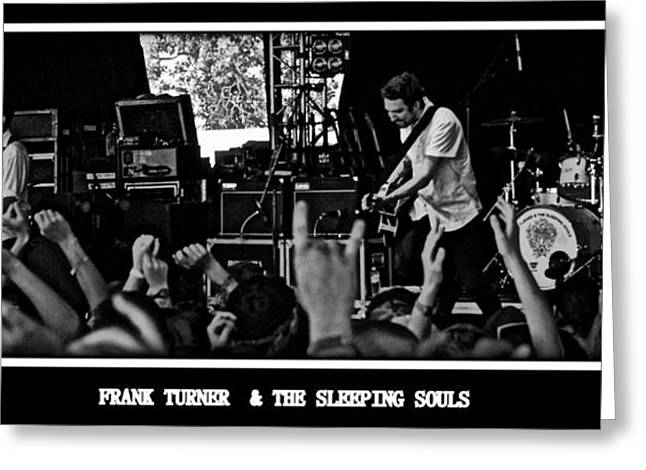 Mosh Pit Greeting Cards - Frank Turner Greeting Card by Thomas Chorbak