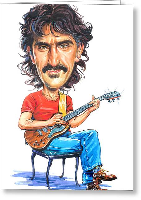 Great Mother Greeting Cards - Frank Zappa Greeting Card by Art