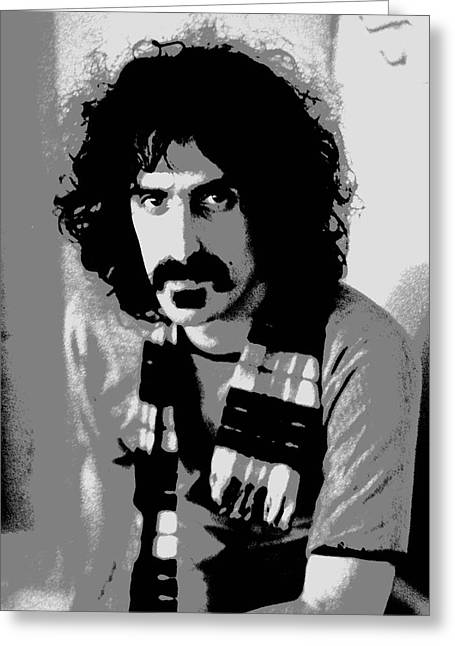 Recording Artists Greeting Cards - Frank Zappa - Chalk and Charcoal 2 Greeting Card by Joann Vitali