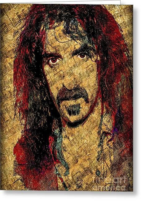 Philatelist Greeting Cards - Frank Zappa Greeting Card by Gary Keesler