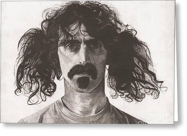 Frank Zappa Greeting Cards - Frank Zappa Greeting Card by Jeff Ridlen