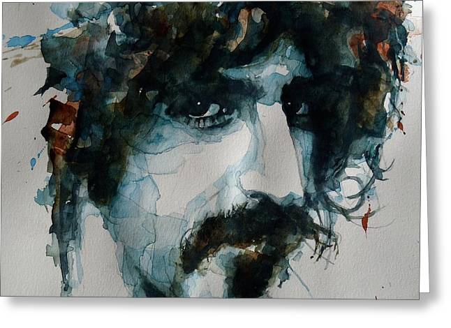 Singer Paintings Greeting Cards - Frank Zappa Greeting Card by Paul Lovering