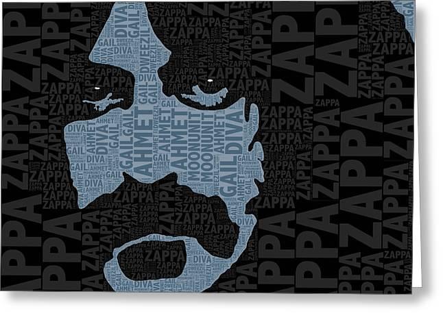 Frank Zappa  Greeting Card by Tony Rubino