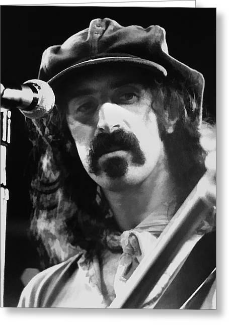 Frank Zappa Greeting Cards - Frank Zappa - Watercolor Greeting Card by Joann Vitali
