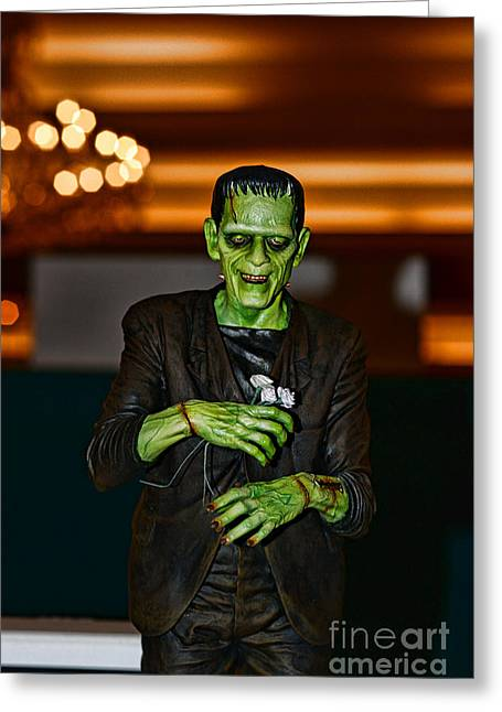 Movie Monsters Greeting Cards - Frankenstein Greeting Card by Paul Ward