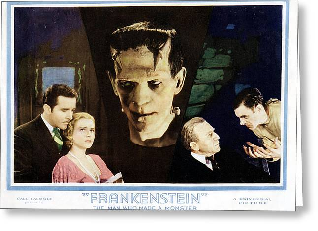 Frederick Greeting Cards - Frankenstein  Greeting Card by Silver Screen