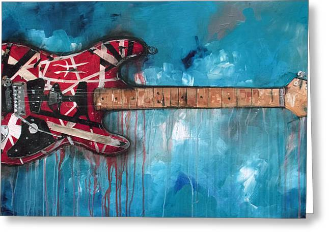 Guitar Player Mixed Media Greeting Cards - Frankenstrat Greeting Card by Sean Parnell