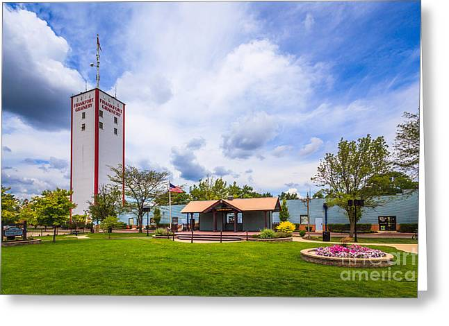 Burton Greeting Cards - Frankfort Burton Breidert Village Green in Frankfort Illinois Greeting Card by Paul Velgos