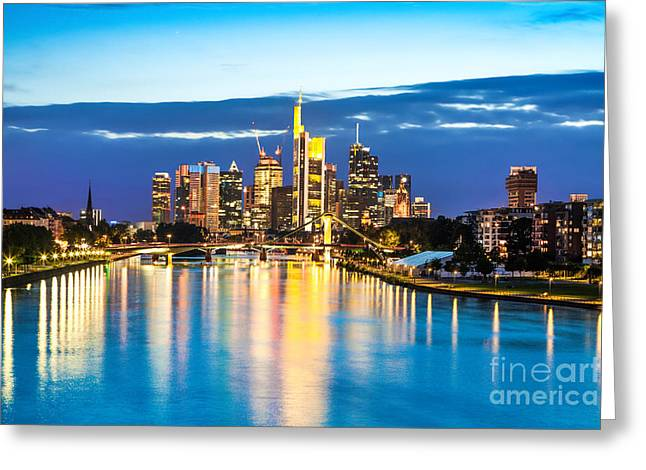 Center City Greeting Cards - Frankfurt am Main Greeting Card by JR Photography