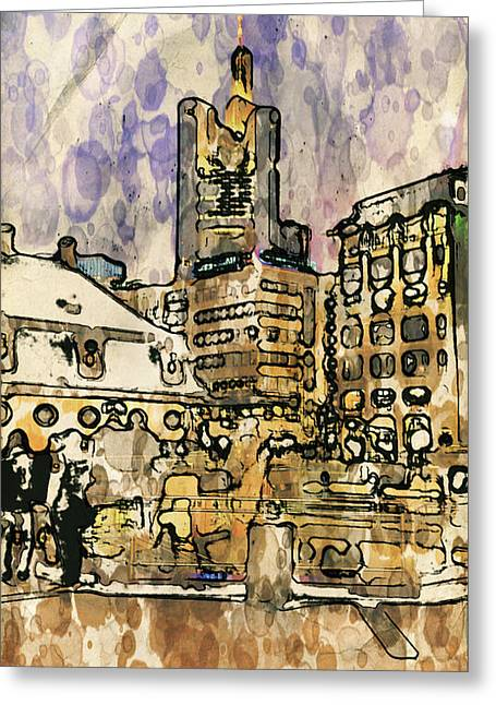 Frankfurt Germany Central Square 2 Greeting Card by Yury Malkov