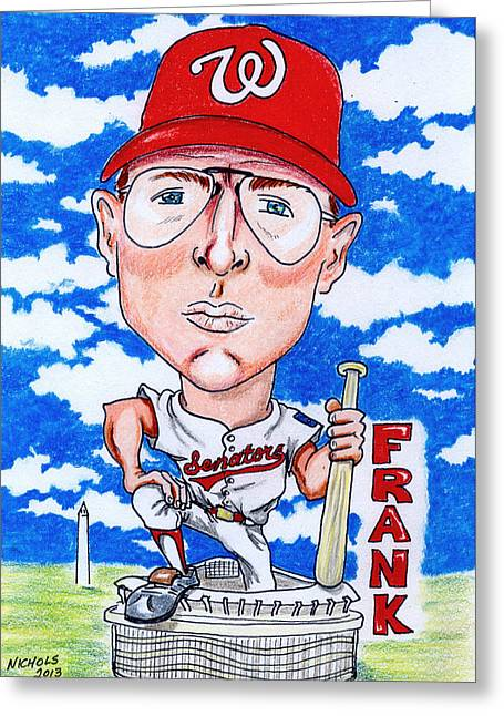 Rookie Of The Year Greeting Cards - Frank_Howard Greeting Card by Paul Nichols
