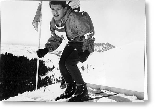 Musical Film Greeting Cards - Frankie Avalon in Ski Party  Greeting Card by Silver Screen