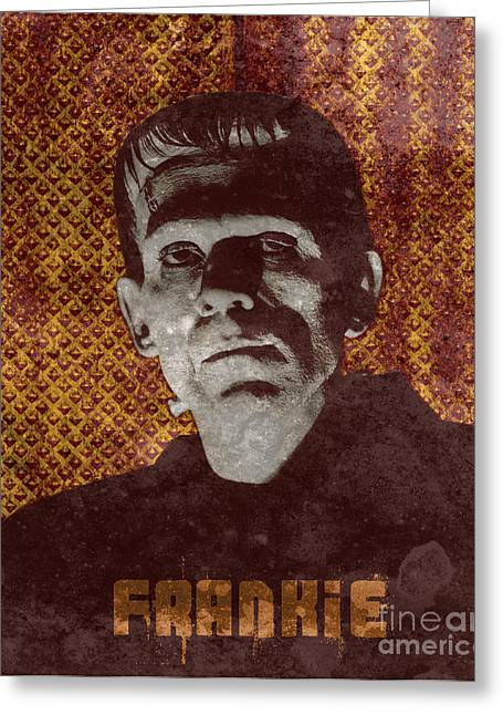 Horror Poster Greeting Cards - Frankie Monster Greeting Card by MMG Archives