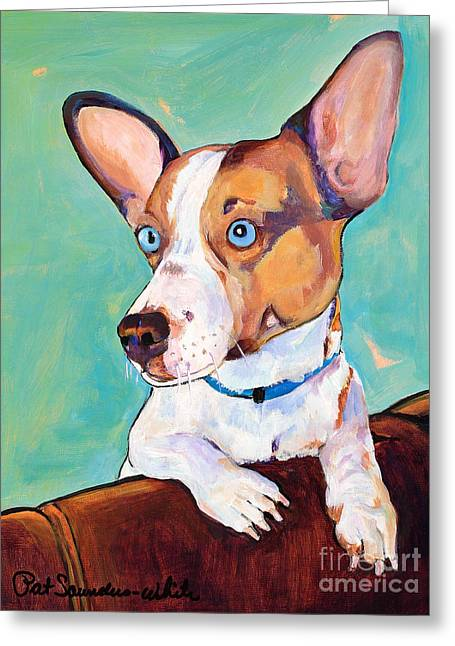 Mutt Jack Greeting Cards - Frankie Greeting Card by Pat Saunders-White