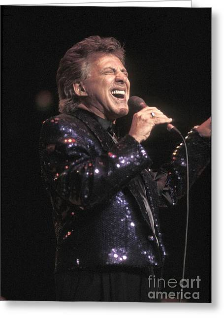 Pop Singer Photographs Greeting Cards - Singer Frankie Valli Greeting Card by Front Row  Photographs