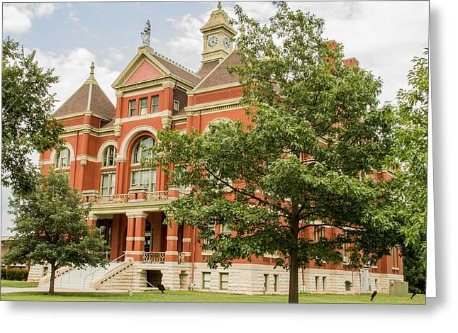 Defendant Greeting Cards - Franklin County Courthouse Greeting Card by Ken Kobe