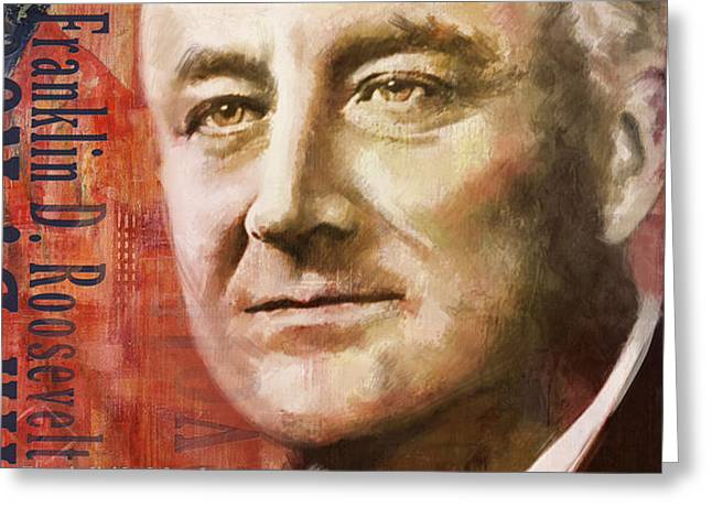 Franklin D. Roosevelt Greeting Card by Corporate Art Task Force