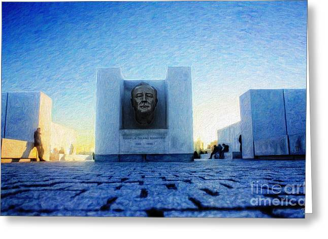 Franklin D. Greeting Cards - Franklin D. Roosevelt Four Freedoms Park Greeting Card by Nishanth Gopinathan