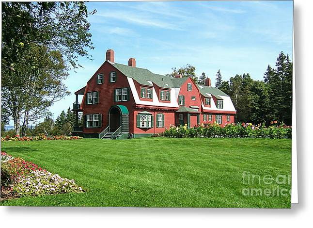 Franklin D. Roosevelts Beloved Island Campobello Greeting Card by Edward Fielding