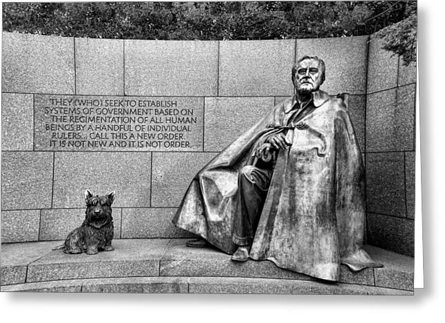 President-elect Greeting Cards - Franklin Delano Roosevelt Memorial Greeting Card by Allen Beatty