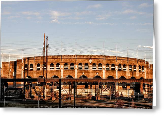 Franklin Digital Art Greeting Cards - Franklin Field in the Morning Greeting Card by Bill Cannon