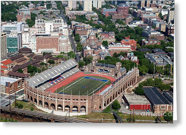 Franklin Field University City Pennsylvania Greeting Card by Bill Cobb