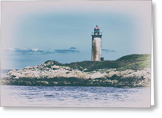 Franklin Island Lighthouse Greeting Card by Karol Livote